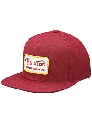 Brixton Grade Snapback Hat Burgundy
