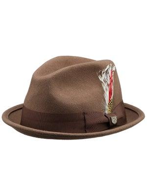 Brixton Gain Fedora Hat Camel LG