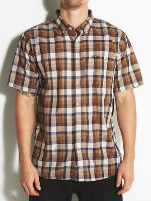 Brixton Howl S/S Woven Shirt Navy/Cream XL