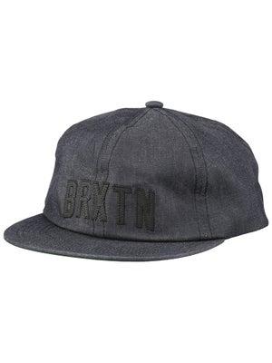 Brixton Hamilton Cap Hat Black Chambray Adj.
