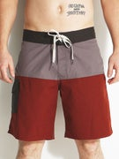 Brixton Leeward Boardshorts  Charcoal/Burgundy