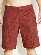 Brixton Mendel Hybrid Trunk Shorts  Red