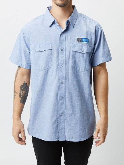 1f5364e844f80 Brixton x Independent Officer S S Woven Shirt