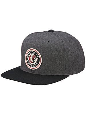 Brixton Rival Snapback Hat Charcoal/Black