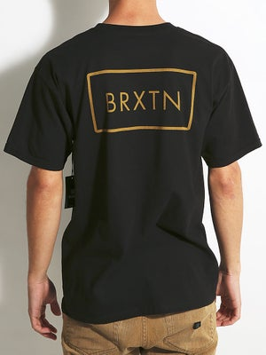 Brixton Rift Tee Black/Gold MD