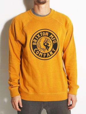Brixton Rival Crew Sweatshirt Gold XXL