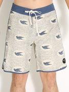 Brixton Strand Boardshorts  Cream/Navy