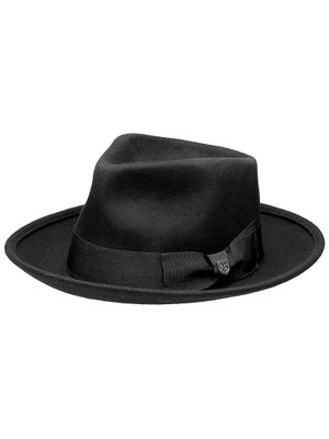 Brixton Swindle Fedora Hat MD Black/Black