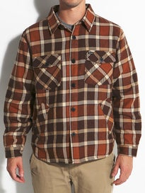 Brixton Tucker Jacket Brown Plaid