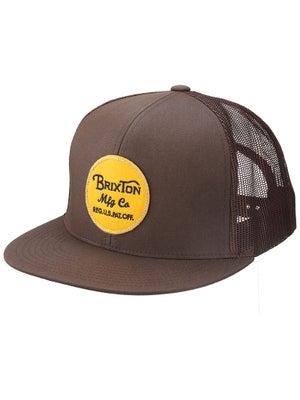 Brixton Wheeler Mesh Hat Dark Brown