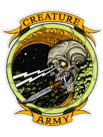 Creature Army 6.5 x 7 Sticker