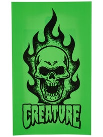 Creature Bonehead Green 7 x 4 Sticker