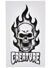 Creature Bonehead White 7 x 4 Sticker
