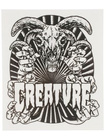 Creature Ceremony 4 x 4.75 Sticker\  lack/White