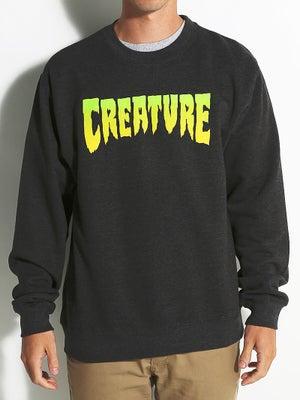 Creature Logo Crew Sweatshirt SM Charcoal Hthr