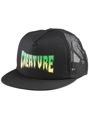 Creature Logo Mesh Hat Black Adj.