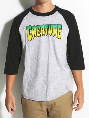 Creature Logo 3/4 Sleeve Shirt SM Ath Hthr/Blk