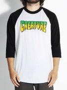 Creature Logo 3/4 Sleeve Raglan Shirt