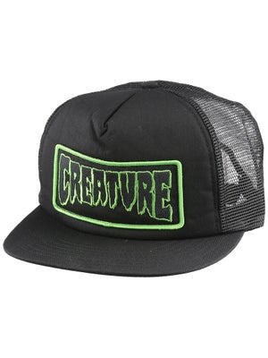 Creature Patch Mesh Hat Black