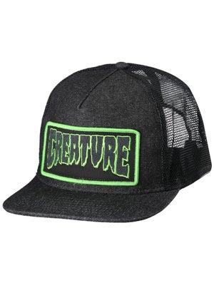 Creature Patch Mesh Hat Black Denim