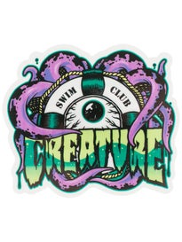 Creature Swimclub 4 Sticker\ Purple