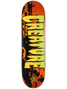 Creature Stained XS Orange Deck  7.4 x 27.6