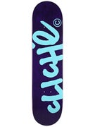 Cliche Handwritten Purple/Teal Deck  7.75 x 31.1