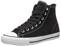 Converse CTAS Pro Hi Shoes Black/White Suede