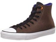 Converse CTAS Pro Hi Leather Shoes Chocolate/Blk/Grape