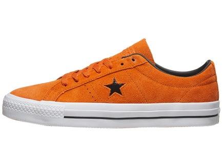 Converse One Star Pro Shoes Campfire Orange Black White dcff6d993