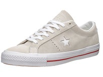 Converse One Star Shoes  Egret/White/Red