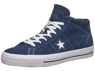 Converse One Star Mid Pro Shoes  Navy/White/Black