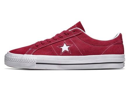 f57a7cf2875e21 Converse One Star Pro Shoes Rhubarb Black White