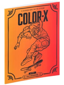 Color-X Edition 1 Skateboarding Coloring Book