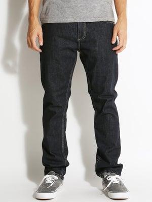 DC Worker Straight Jeans Indigo Rinse 28x32