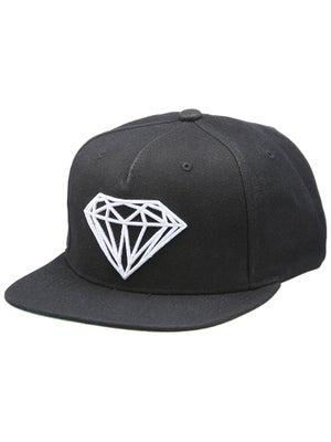 Diamond Brilliant Snapback Hat Black