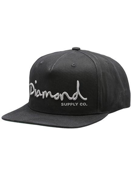 Diamond OG Script Snapback Hat