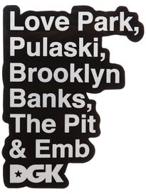 DGK Plazas Sticker