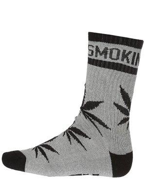 DGK Stay Smokin' Crew Socks Athletic Heather/Black