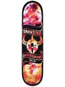 Darkstar Scroll Tie Dye/Orange Deck  7.75 x 31.2
