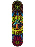 Darkstar Trippy Maroon Deck  7.75 x 31.2