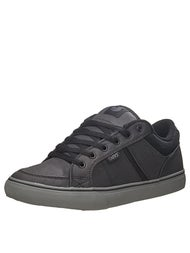 DVS Barton Shoes Black Grey Waxed Canvas