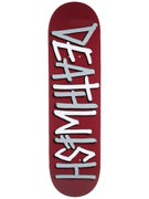 Deathwish Deathspray Burgundy/Grey Deck  8.475 x 31.875