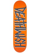 Deathwish Deathspray Orange/Grey Deck  8.125 x 31.5