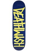 Deathwish Deathspray Navy/Lime Deck  8.25 x 31.5