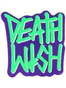 Deathwish Deathstack Sticker  GREEN/PURPLE GLITTER