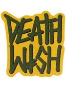 Deathwish Deathstack Sticker  MUSTARD/ARMY