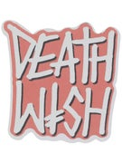 Deathwish Deathstack Sticker  RED/SILVER GLITTER