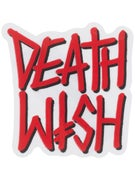Deathwish Deathstack Sticker  WHITE/RED