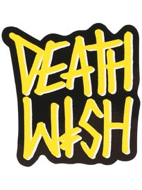 Deathwish Deathstack Sticker  YELLOW/BLACK